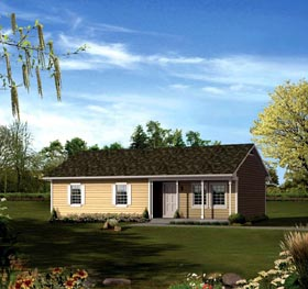 Ranch House Plan 86921 Elevation