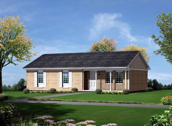 Ranch House Plan 86922 Elevation