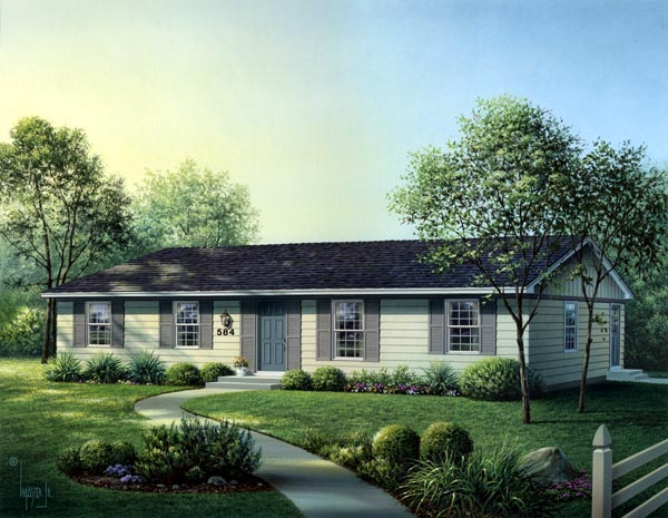 Ranch House Plan 86924 Elevation