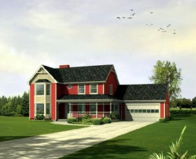 House Plan 86931 | Style Plan with 2554 Sq Ft, 4 Bedrooms, 3 Bathrooms, 2 Car Garage Elevation