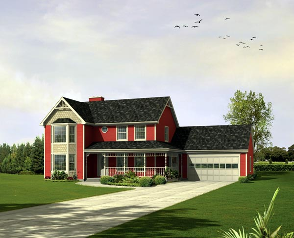 House Plan 86931 Elevation