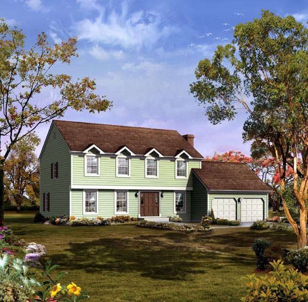 Traditional House Plan 86932 with 4 Beds, 3 Baths, 2 Car Garage Elevation