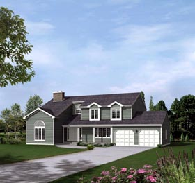 House Plan 86933 | Style Plan with 2751 Sq Ft, 4 Bedrooms, 3 Bathrooms, 2 Car Garage Elevation