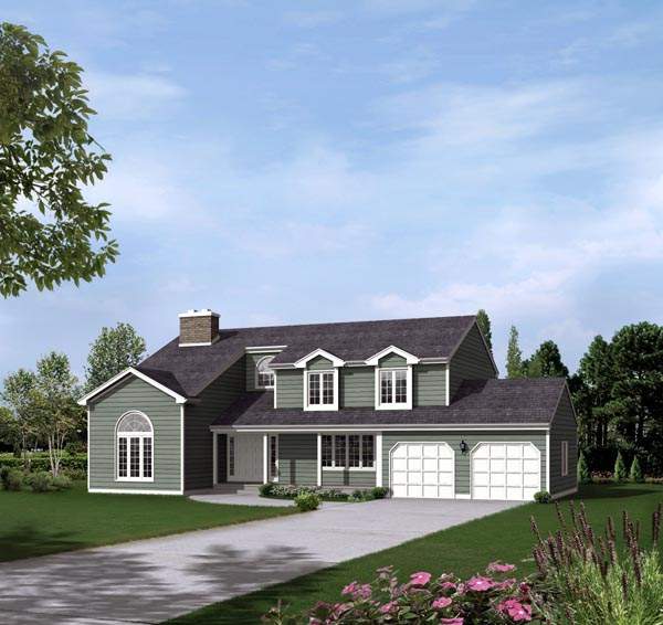 House Plan 86933 with 4 Beds, 3 Baths, 2 Car Garage Elevation