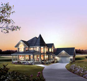 Country Farmhouse Victorian House Plan 86939 Elevation