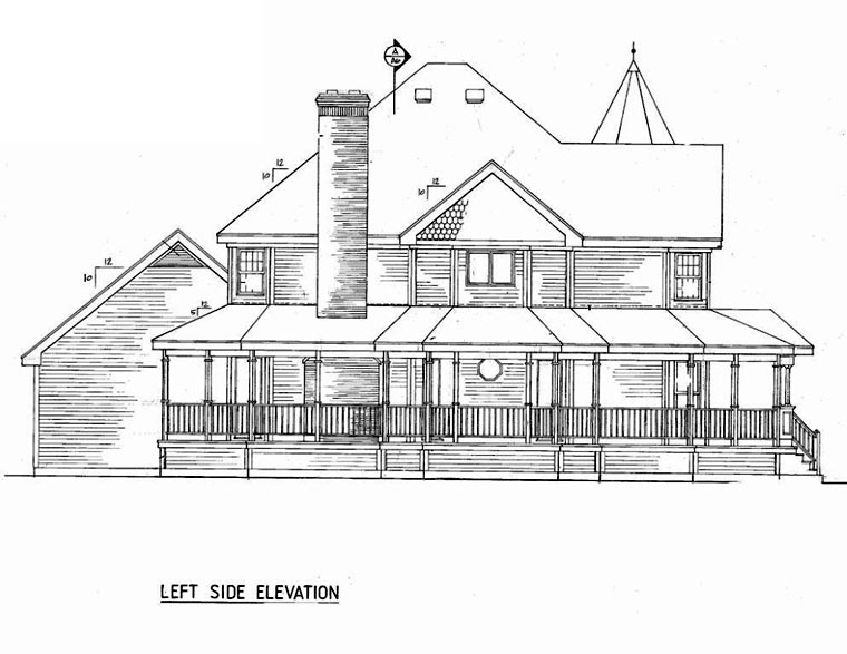 Country, Farmhouse, Victorian House Plan 86939 with 4 Beds, 3 Baths, 2 Car Garage Picture 1