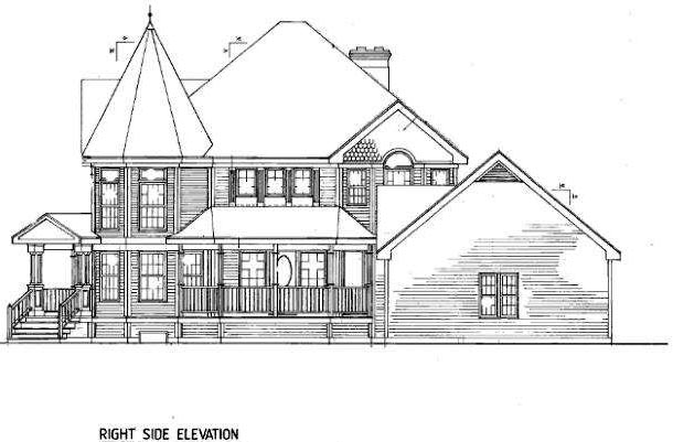 Country, Farmhouse, Victorian House Plan 86939 with 4 Beds, 3 Baths, 2 Car Garage Picture 2