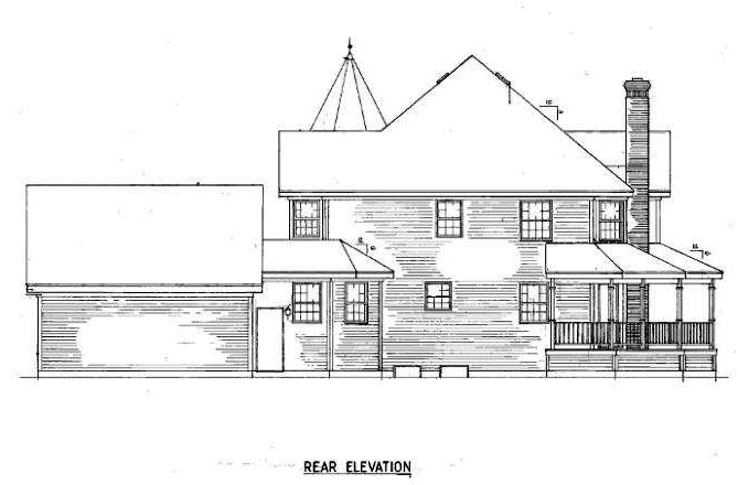 Country Farmhouse Victorian House Plan 86939 Rear Elevation