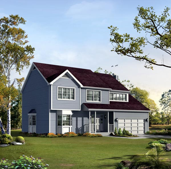 House Plan 86941 Elevation