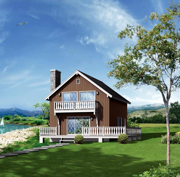 Cabin House Plan 86943 Elevation