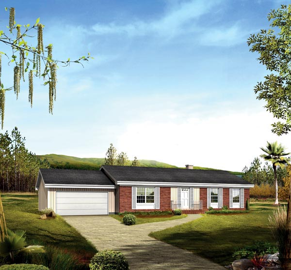 Ranch House Plan 86944 Elevation