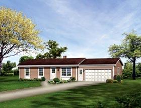 Ranch House Plan 86947, 2 Car Garage Elevation