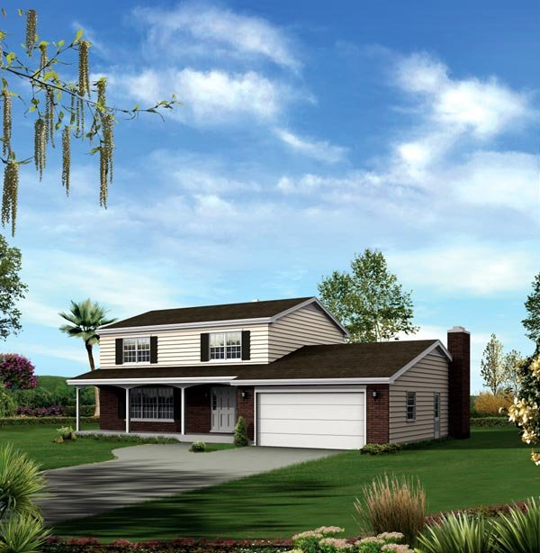 House Plan 86949 | Style Plan with 2258 Sq Ft, 3 Bedrooms, 3 Bathrooms, 2 Car Garage Elevation