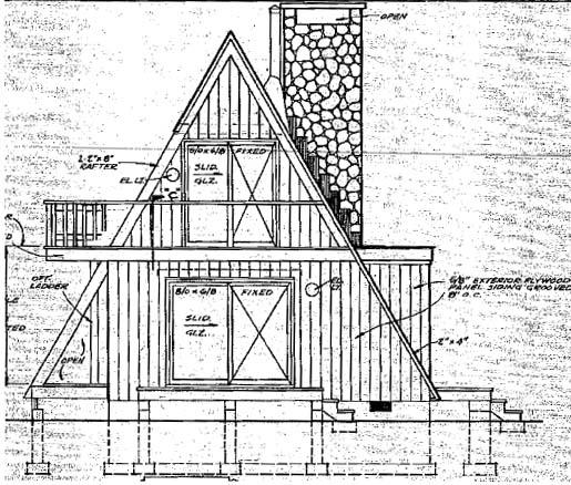 A-Frame Contemporary Retro House Plan 86950 Rear Elevation
