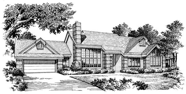 Contemporary Ranch House Plan 86953