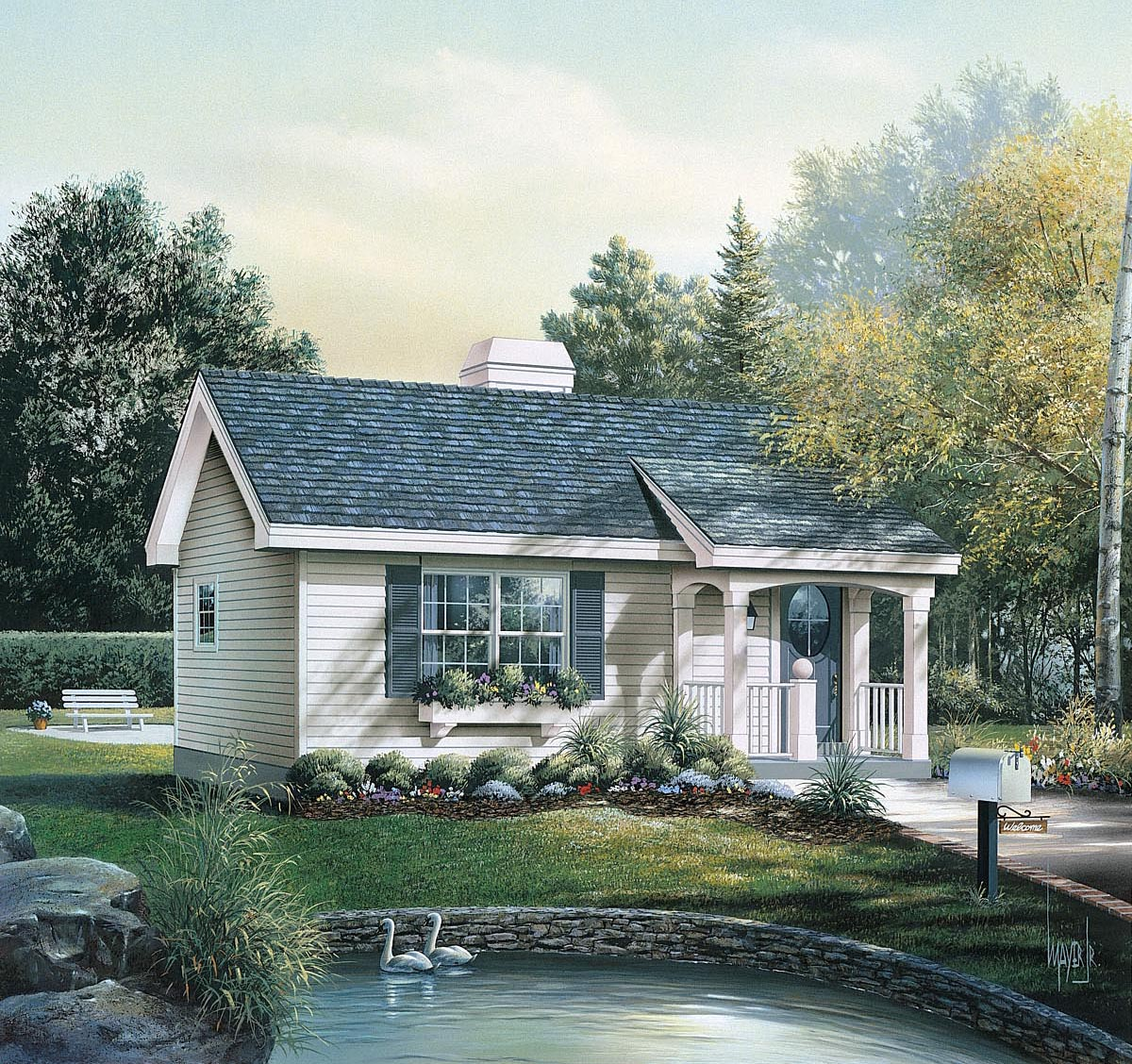 house plan 86955 at familyhomeplans com click here to see an even larger picture cabin colonial cottage country ranch house plan