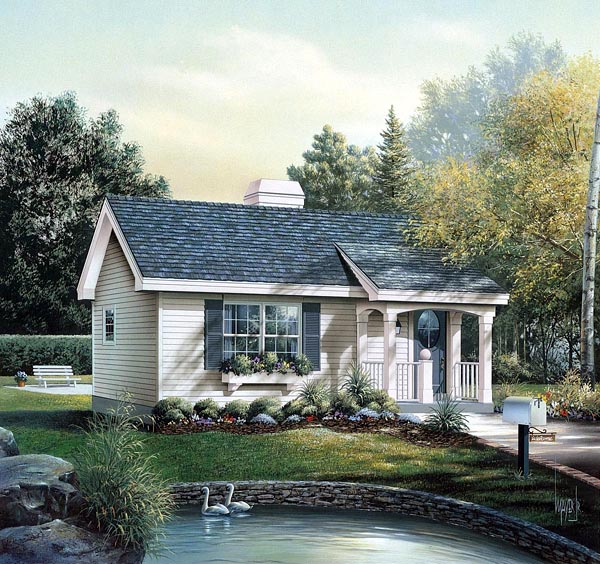 Cabin Colonial Cottage Country Ranch House Plan 86955
