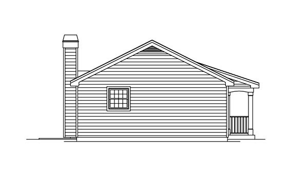 Cabin, Colonial, Cottage, Country, Ranch House Plan 86955 with 1 Beds, 1 Baths Picture 1