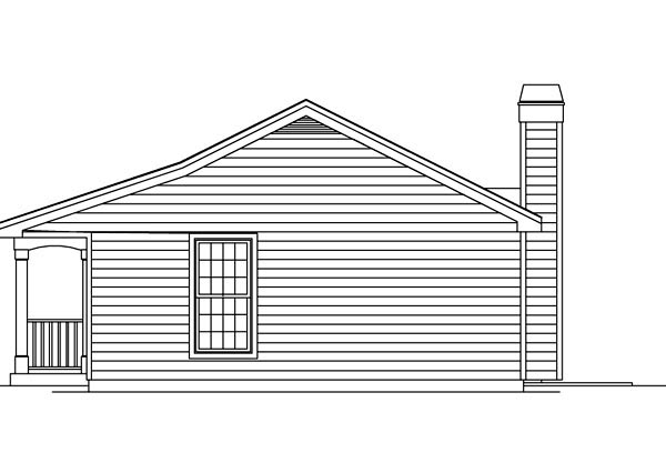 Cabin, Colonial, Cottage, Country, Ranch House Plan 86955 with 1 Beds, 1 Baths Picture 2