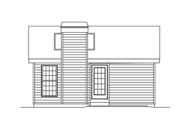 Cabin Colonial Cottage Country Ranch House Plan 86955 Rear Elevation