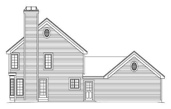 Traditional House Plan 86956 Rear Elevation