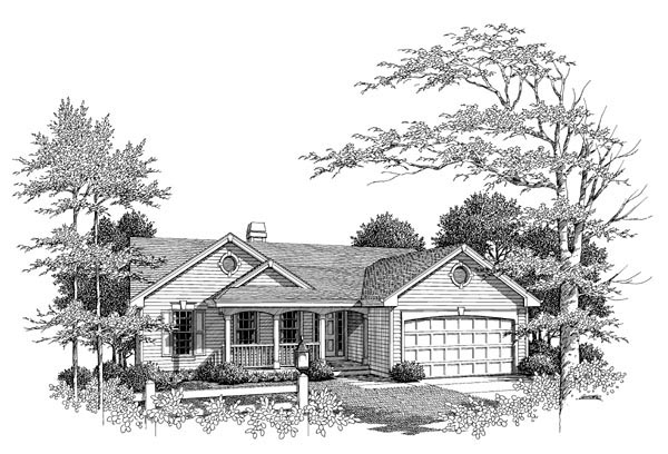 Country Ranch Traditional House Plan 86959