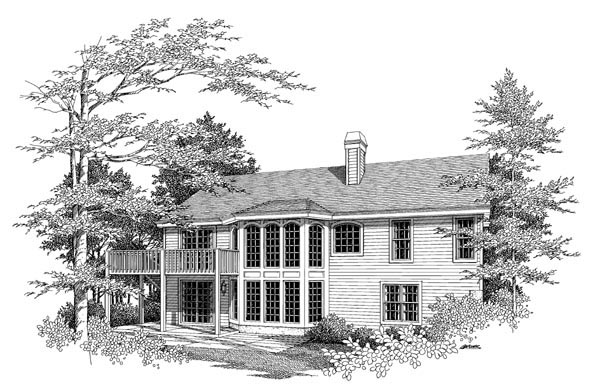 Country Ranch Traditional House Plan 86959 Rear Elevation