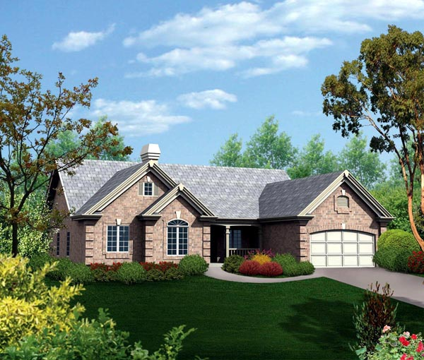 House Plan 86960 | Country Ranch Traditional Style Plan with 3261 Sq Ft, 4 Bedrooms, 3 Bathrooms, 2 Car Garage Elevation