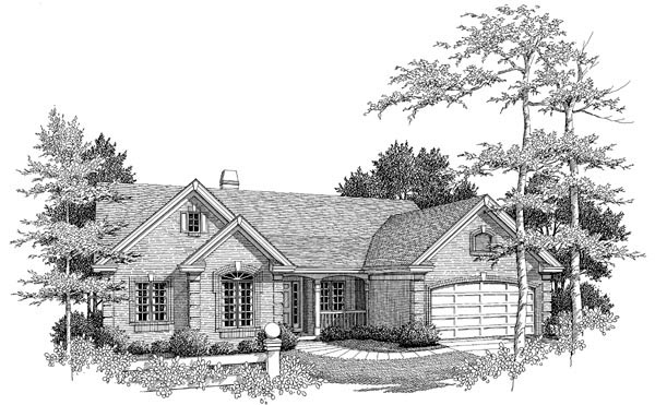 Country Ranch Traditional House Plan 86960