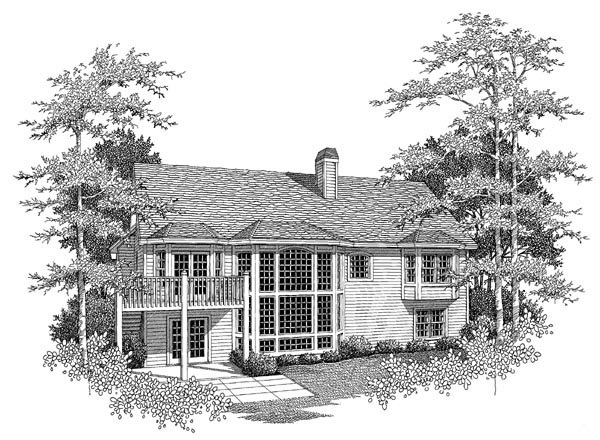 House Plan 86960 | Country Ranch Traditional Style Plan with 3261 Sq Ft, 4 Bedrooms, 3 Bathrooms, 2 Car Garage Rear Elevation