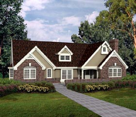 Bungalow Country Craftsman Ranch Traditional House Plan 86962 Elevation