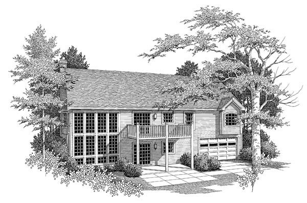 Bungalow Country Craftsman Ranch Traditional House Plan 86962 Rear Elevation