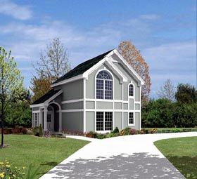 Contemporary , Traditional 2 Car Garage Apartment Plan 86964 with 1 Beds, 1 Baths Elevation