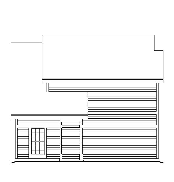 Contemporary, Traditional 2 Car Garage Apartment Plan 86964 with 1 Beds, 1 Baths Picture 3