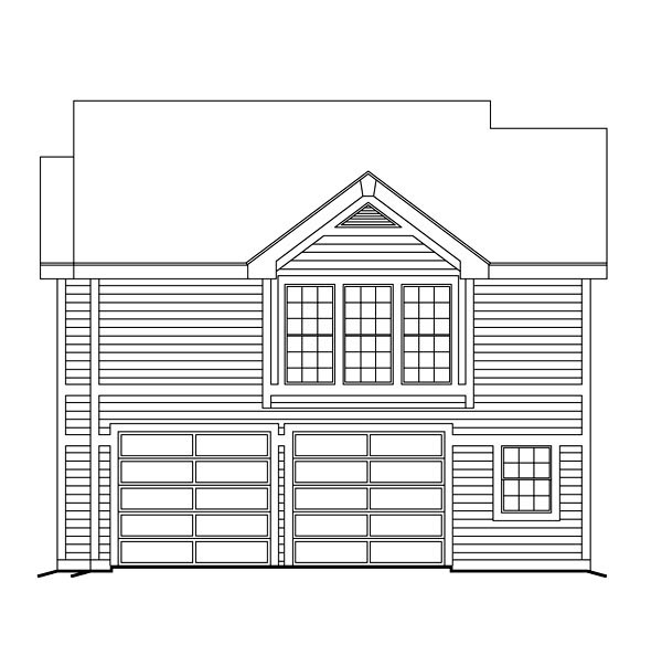Contemporary, Traditional 2 Car Garage Apartment Plan 86964 with 1 Beds, 1 Baths Picture 1