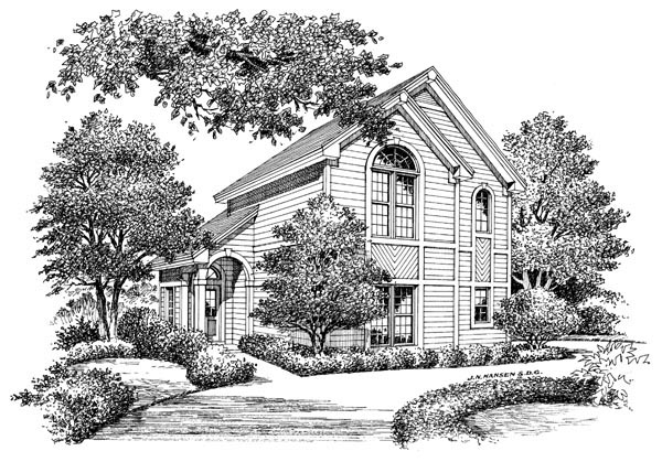 Contemporary, Traditional 2 Car Garage Apartment Plan 86964 with 1 Beds, 1 Baths Picture 2