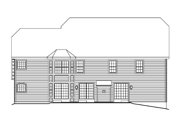 Colonial Country Traditional House Plan 86965 Rear Elevation