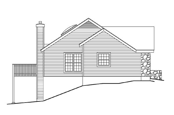 Cabin, Cottage, Country, Ranch House Plan 86967 with 3 Beds, 1 Baths, 2 Car Garage Picture 1