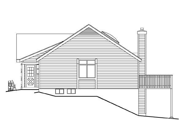 Cabin, Cottage, Country, Ranch House Plan 86967 with 3 Beds, 1 Baths, 2 Car Garage Picture 2