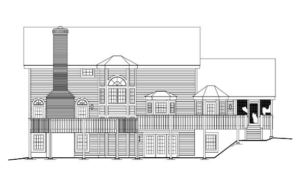 Country Traditional House Plan 86968 Rear Elevation