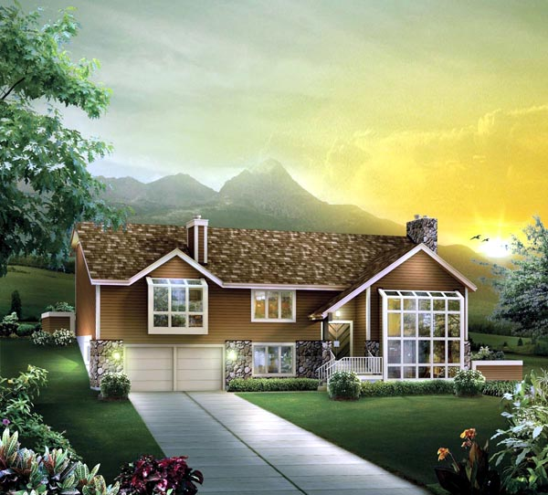 Contemporary House Plan 86969 Elevation