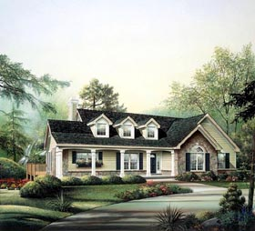 Cape Cod Country Ranch House Plan 86970 Elevation