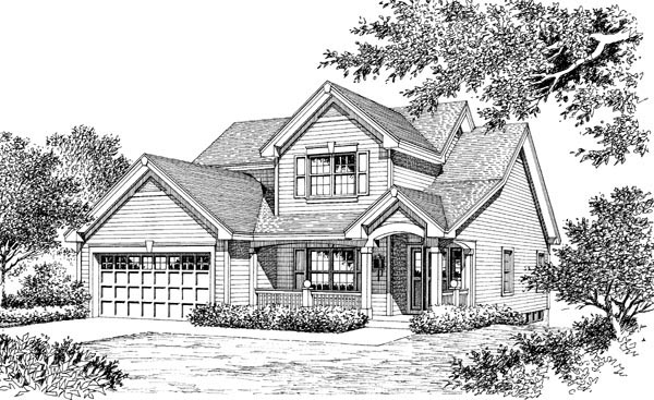Contemporary, Traditional House Plan 86971 with 3 Beds, 3 Baths, 2 Car Garage Picture 3