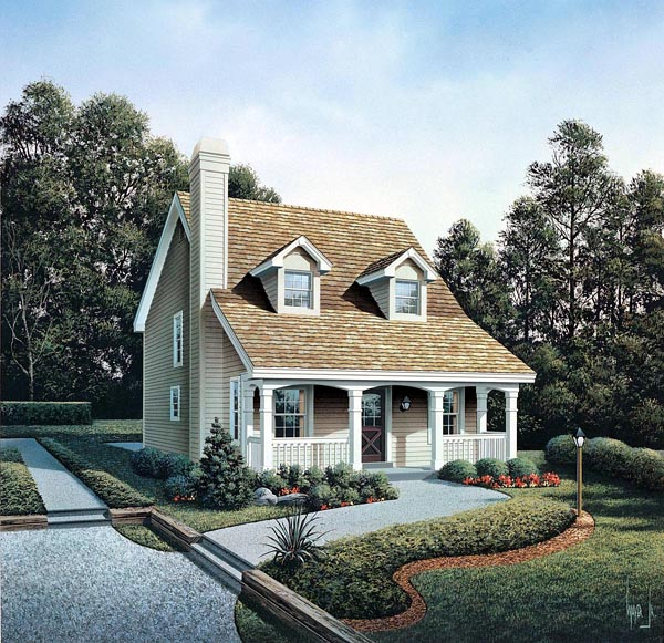 Cabin Cape Cod Cottage Country Elevation of Plan 86973
