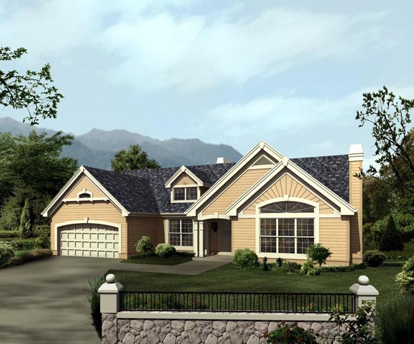 Bungalow Country Ranch Traditional House Plan 86975 Elevation