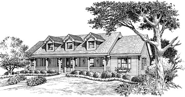 Cape Cod, Country, Ranch Multi-Family Plan 86977 with 5 Beds, 5 Baths Picture 3