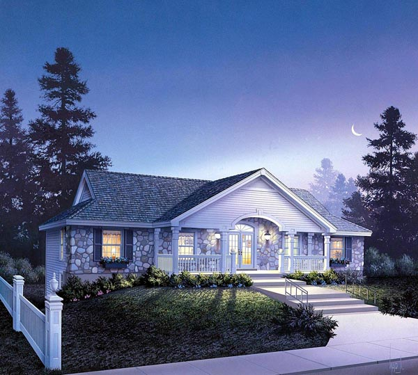 Country Ranch Traditional Multi-Family Plan 86981 Elevation