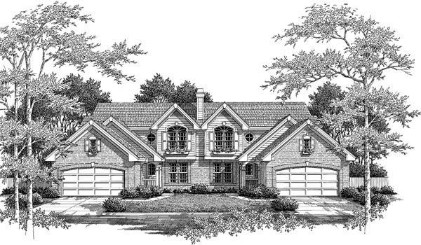 Craftsman, European, Traditional Multi-Family Plan 86982 with 6 Beds, 6 Baths, 4 Car Garage Picture 3