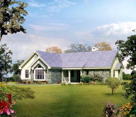 Country Ranch Traditional House Plan 86983 Elevation