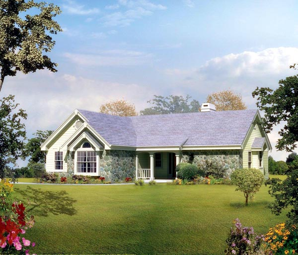 Country Ranch Traditional House Plan 86983